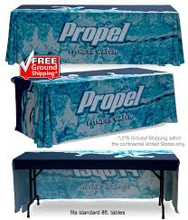 8 ft table cloth with logo table throws 8ft custom fitted table covers for events expos trade shows