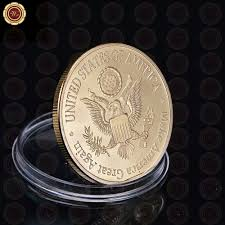 wr gold us president donald trump coin usa trump tower the statue