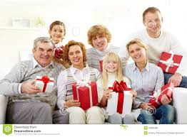 family with gifts stock photo image of gift aged home 16869488