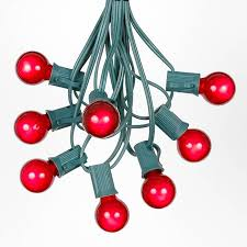 wire christmas tree with lights red satin g30 globe round outdoor string light set on green wire