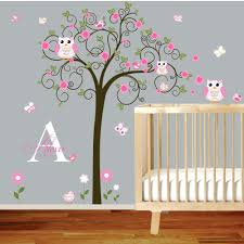 Tree Wall Decor For Nursery Purple Wall Decals For Nursery This Baby Room Wall Decor