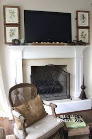 Decorations Tv Over Fireplace Ideas by 69 Best Mantel Accessorizing Images On Pinterest Bedroom
