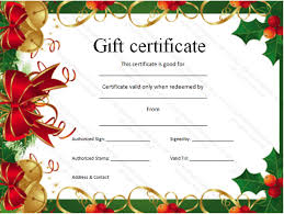 free christmas gift certificate template christmas gift