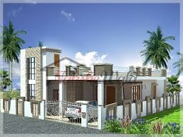 Home Design For Single Story Single Storey Elevation 3d Front View For Single Floor