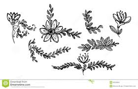 leaves and flowers ornaments 1 stock image image 25228891