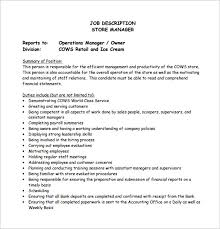 11 store manager job description templates u2013 free sample example