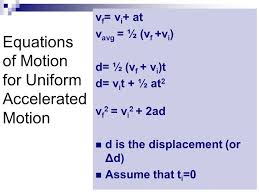 equations of accelerated motion ppt
