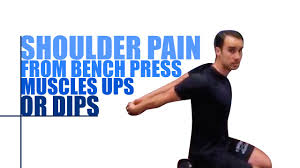 Sore Shoulder From Bench Press Shoulder Pain From Bench Press Muscle Ups Or Dips Youtube