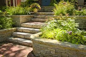 stone landscaping ideas for front yard landscape design for long
