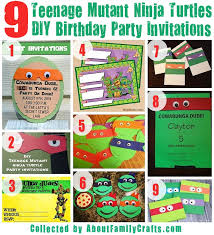 excellent ninja turtle birthday party invitations theruntime