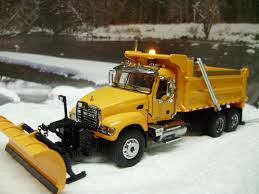 mack and volvo trucks custom 64th scale mack granite dump truck w plow and working