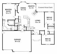 ranch floor plans with split bedrooms plan 1651 split bedroom ranch w 3 car garage hearthroom and