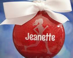 personalized cheerleader christmas ornament handmade with