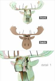 2016 new design geometric deer head wall sticker geometry animal