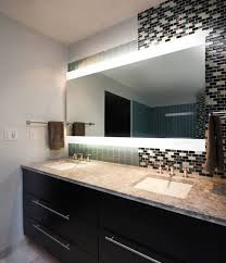 Backlit Mirrors For Bathrooms White Lighted Bathroom Mirror Essential Lighted Bathroom Mirror