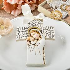 ornament favors madonna and child hanging cross ornament price favors