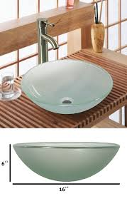 Bathroom Vessel Sink Vanity by Tempered Glass Vessel Sink Vanity Bathroom Bath Sink Premium