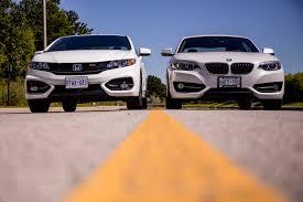 2014 bmw 228i vs 2014 honda civic si coupe comparison cars