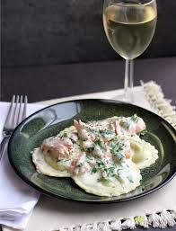 sauce boursin cuisine weeknight ravioli with spinach salmon and boursin cheese sauce