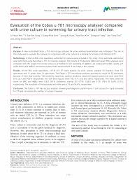 microbiology society journals evaluation of the cobas u 701