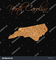 North Carolina Map North Carolina Map Filled Golden Glitter Stock Vector 548482591