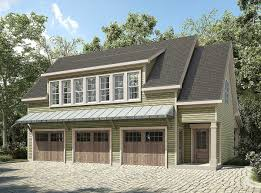 ross chapin architects house plans plan 36057dk 3 bay carriage house plan with shed roof in back