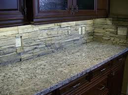 Grey Stone Backsplash Artkontaktcom - Gray backsplash tile
