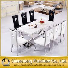 Steel Dining Chairs Stainless Steel Dining Table And Chair Sets Stainless Steel