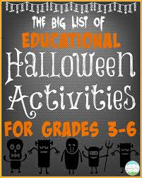 teaching with a mountain view educational halloween activities