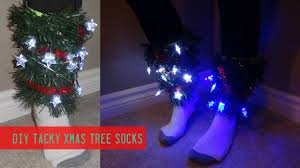 diy tree light up socks