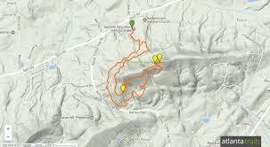 Atlanta Georgia Zip Code Map by Sawnee Mountain Preserve Hiking The Indian Seats Trail