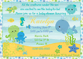 the sea baby shower invitation for baby shower fascinating the sea baby shower