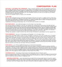 sample compensation plan template 8 free documents in pdf word