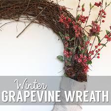 winter inspired grapevine wreath atkinson drive