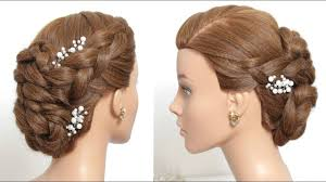 how to make bridal hairstyle wedding updo easy bridal hairstyle for long hair tutorial youtube