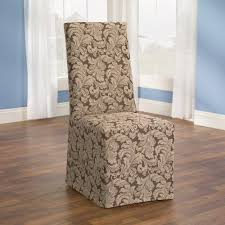 cloth chair covers sure fit scroll dining room chair slipcover brown