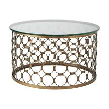 awesome round coffee table come with unique brass coffee table