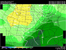 us dewpoint map dew point contours and wind vectors regional mode