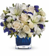 bouquet delivery teleflora s sapphire skies bouquet tev25 3a in burbank ca the