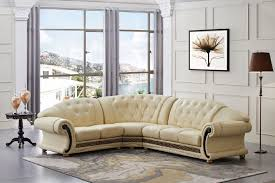 amazon com versace beige leather sectional sofa in traditional