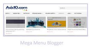 cara membuat menu dropdown keren membuat mega menu blogspot asis10