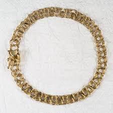 gold charm link bracelet images Heart triple link charm bracelet 14k gold charm link bracelet jpg