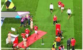 modern football is rubbish benfica players exit pitch through