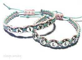 Personalized Kids Jewelry Name Bracelet Little Bracelet Flower Jewelry