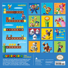 a look at the upcoming super mario brothers 2017 wall calendar