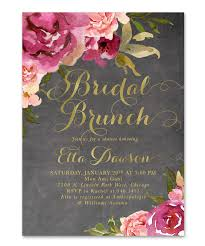 bridal shower brunch invitations etta bridal shower brunch invitation burgundy blush pink gold