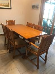 solid maple dining table solid maple dining table chairs and display cabinet in cullybackey