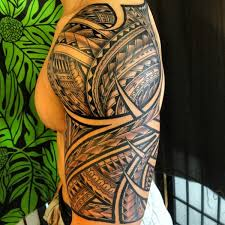fabulous polynesian half sleeve tattoo in 2017 real photo