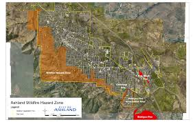 Fire Map Oregon by City Of Ashland Oregon Wildfire Hazard Zone
