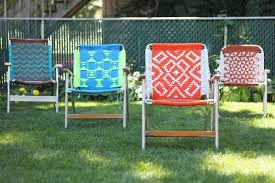 Vintage Aluminum Folding Chairs 10 Ways To Update Folding Chairs Brit Co